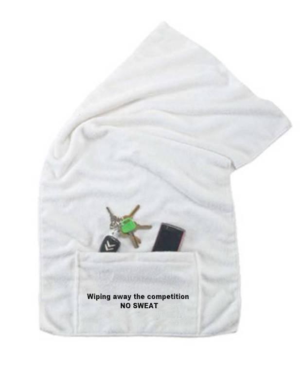 מגבת מיקרופייבר | מגבת עם כיס ממותגת