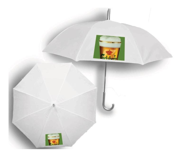 מטרייה  ידית סבא  עם הדפס צבעוני