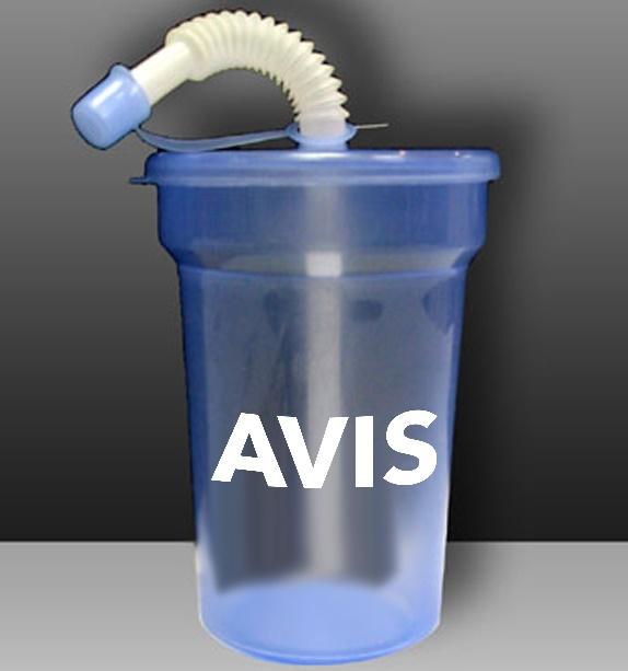 כוס עם קש | כוסות פלסטיק עם קש
