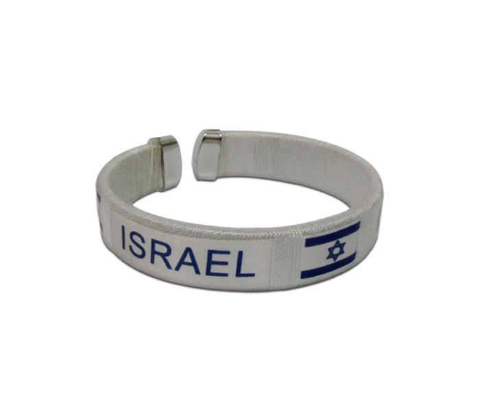 צמיד בד | צמידי בד  מודפסים | צמיד דגל ישראל