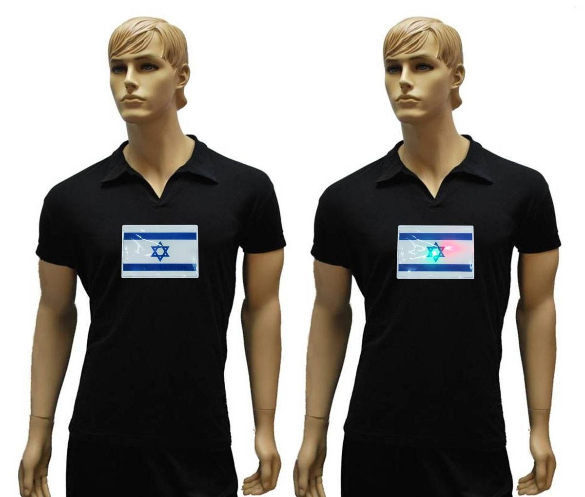 דגל ישראל מהבהב | מדבקת דגל ישראל