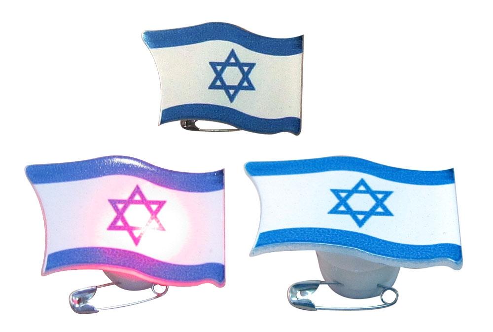 סיכת דש דגל מהבהבת ליום העצמאות