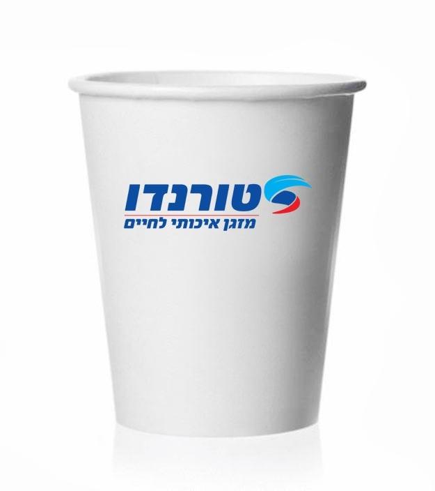 כוס נייר ממותג