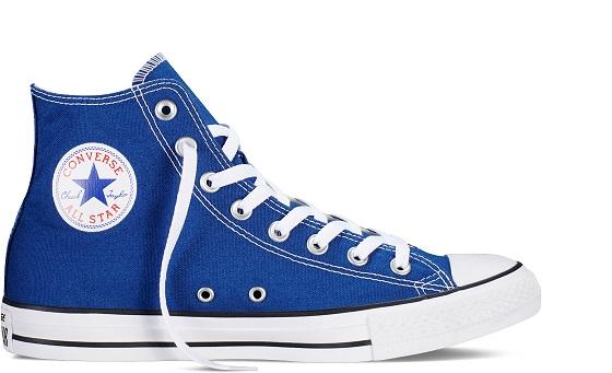 נעלי אולסטאר כחול רויאל גבוה נשים גברים Converse Radio Blue