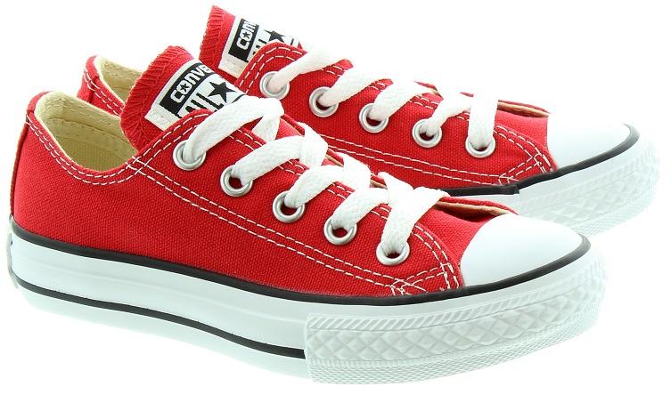 נעלי אולסטאר ילדות ילדים אדום Converse red