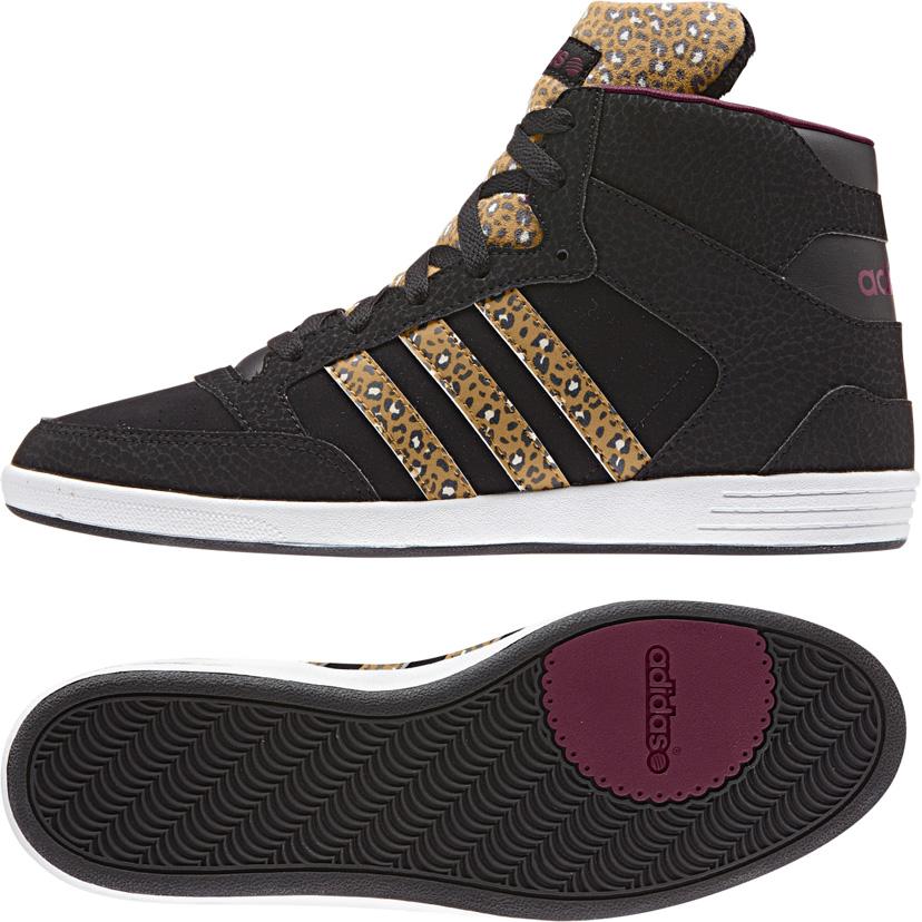 נעלי אדידס גבוהות מנומר נשים Adidas hoops cst animal