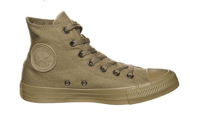 נעלי אולסטאר ירוק זית חלקות נשים גברים Converse Olive Mono