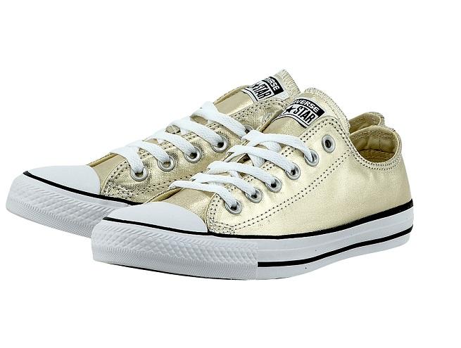נעלי אולסטאר זהב מטאלי Converse GoldMetal