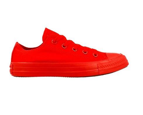 נעלי אולסטאר אדום חלק גברים Converse Red Mono