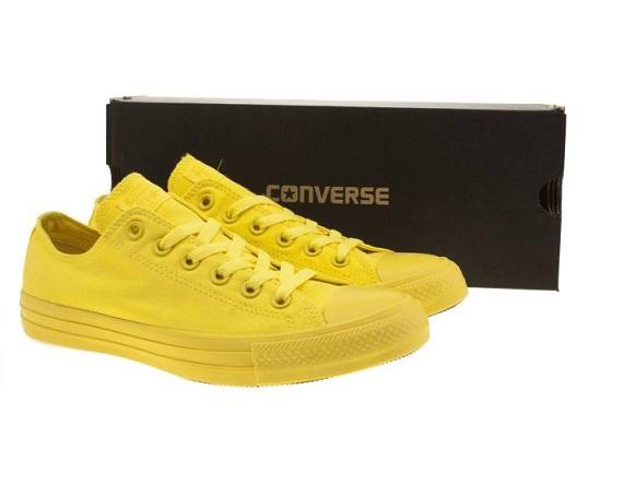 נעלי אולסטאר צהוב חלק Converse Yellow Mono