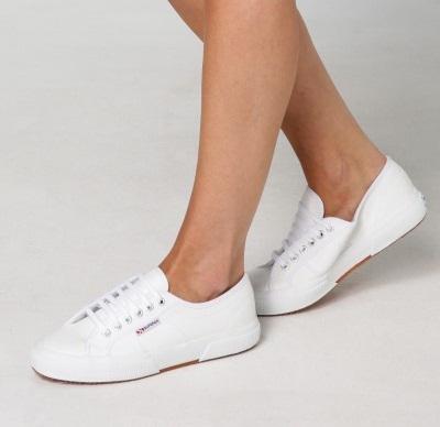 נעלי סופרגה לבן נשים גברים Superga White