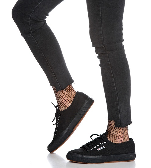 נעלי סופרגה שחור חלק נשים גברים Superga 2750 Cotu Classic Full Black