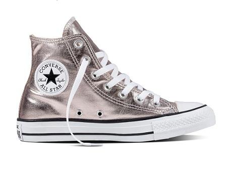 נעלי אולסטאר ורוד מטאלי נשים Converse Rose Quartz