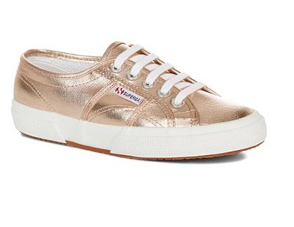 נעלי סופרגה ורוד מטאלי נשים Superga Metallic Rose Gold