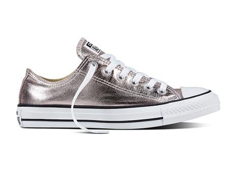 נעלי אולסטאר ורוד מטאלי ילדות Converse Rose Quartz
