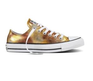 אולסטאר כסף זהב מטאלי נשים Converse Silver Gold Metalic