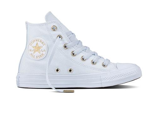 נעלי אולסטאר תכלת זהב נשים Converse Blue Tint Gold