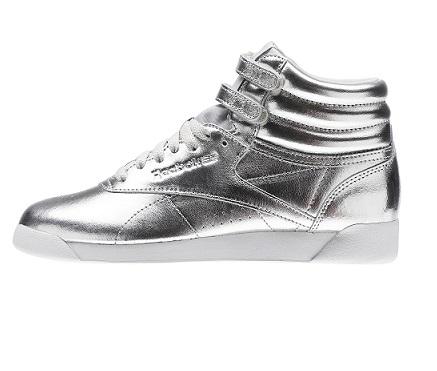 נעלי ריבוק מטאלי נשים Reebok Freestyle Hi Metallic