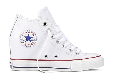 נעלי אולסטאר עקב פנימי נשים Converse Lux Mid