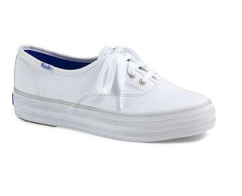 נעלי פלטפורמה קדס נשים KEDS TRIPLE WHITE