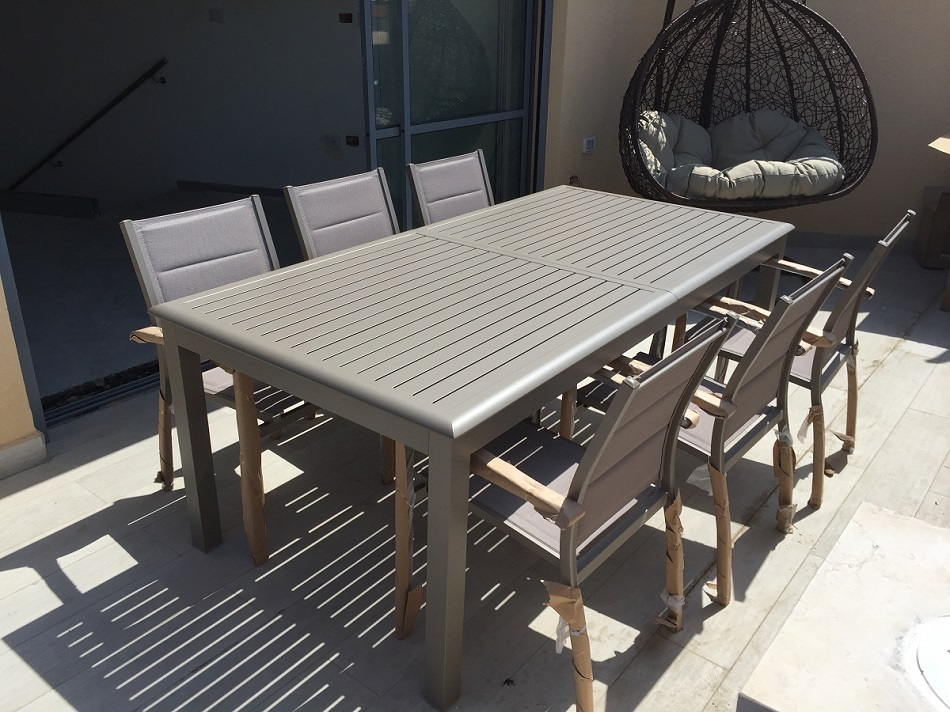 שולחן נפתח %100 אלומיניום 100x200/300