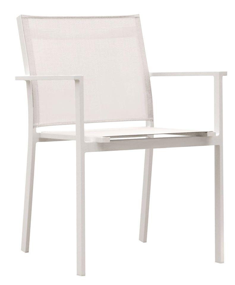 כסא אלומיניום משולב טקסליין עם ידיות