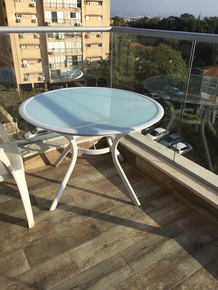 שולחן אלומיניום עגול קוטר 109 דגם TEL AVIV