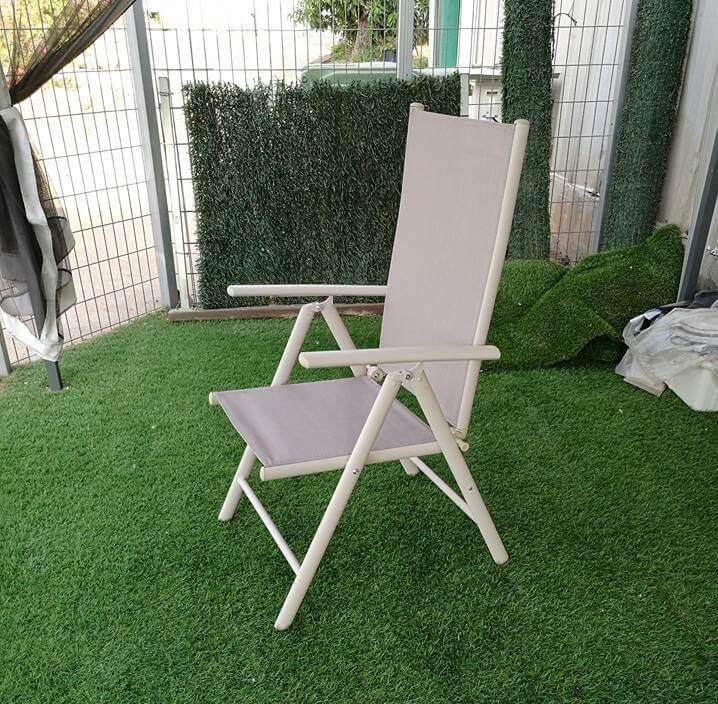 כסא מצבים מאלומיניום מתקפל