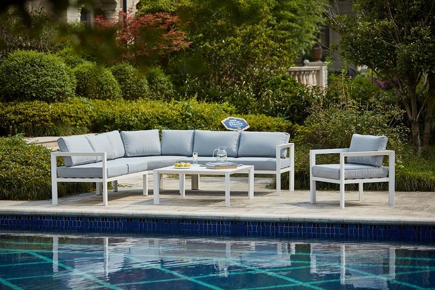 סלון אלומיניום פינתי דגם VEGAS כולל כורסא בודד