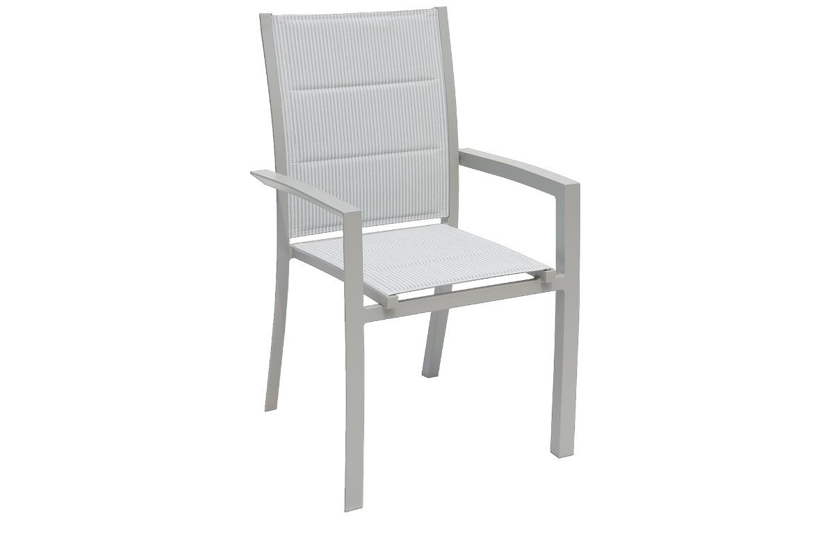 כסא לגינה מרופד מאלומיניום