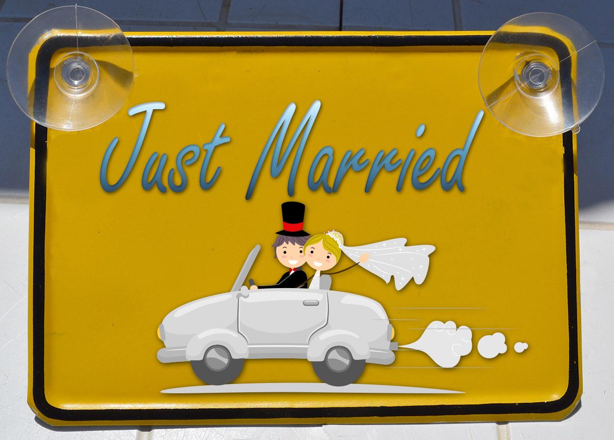 לוחית נהג חדש 12/17 ס''מ !Just Married