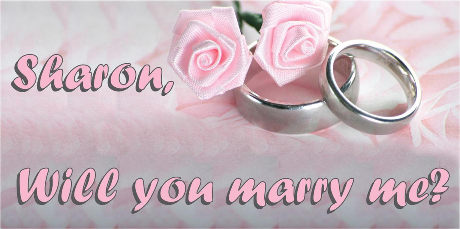 שלט הצעת נישואין 1 מ' על 2 מ' U5020