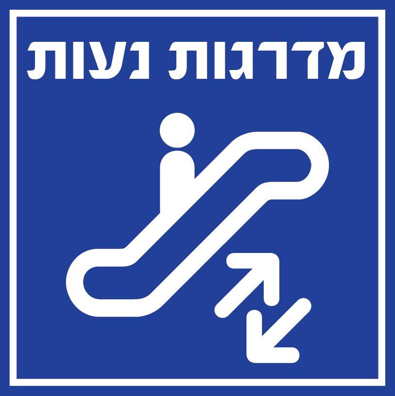 שלט PVC- 8812 מדרגות נעות 20/20 ס