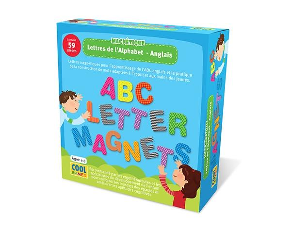 Lettres de l'Alphabet Magnétiques Anglais