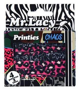 Printies Chaos - זוג שרוכים עם ההדפס המבולגן