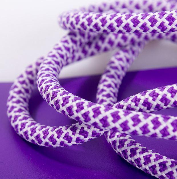 Ropies Violet White- זוג שרוכים חבל עגול סגול לבן