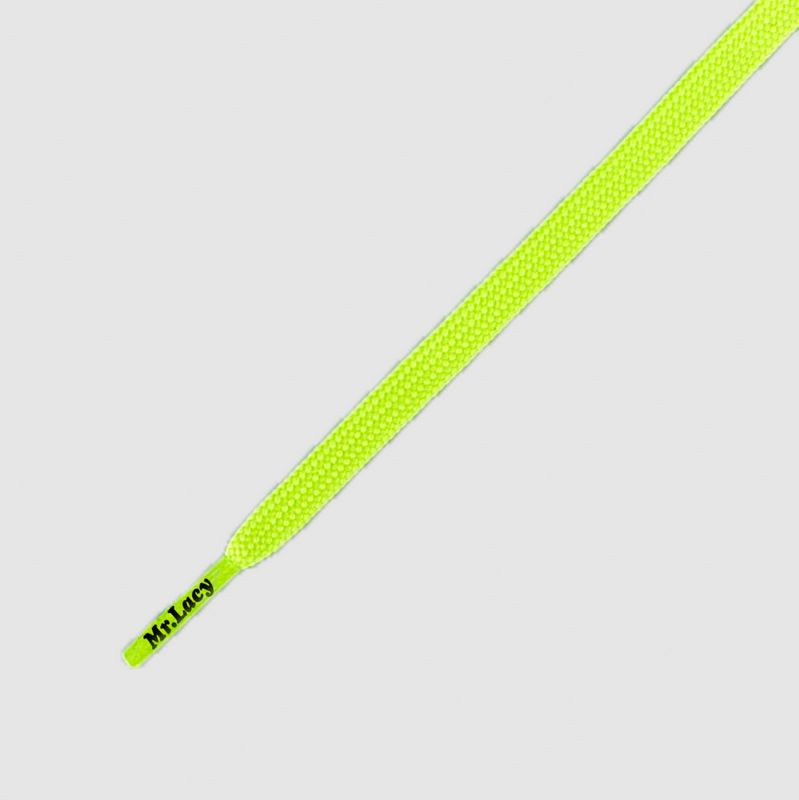 Runnies Flat Neon Lime Yellow- זוג שרוכים שטוחים לנעלי ספורט בצבע צהוב