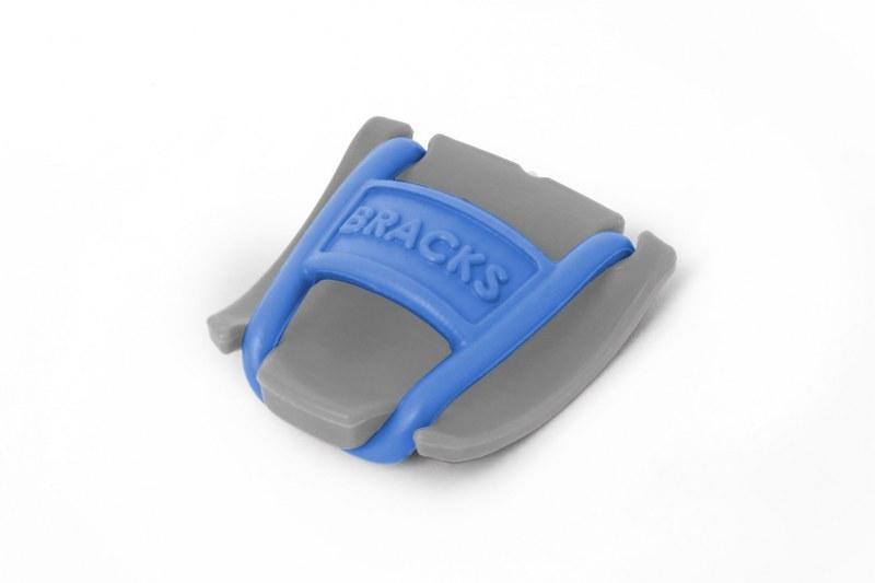 BRACKS זוג קליפ נעילה לשרוכים אפור כחול