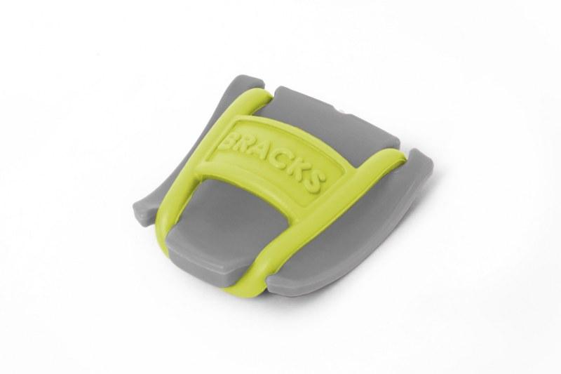 BRACKS זוג קליפ נעילה לשרוכים אפור צהוב
