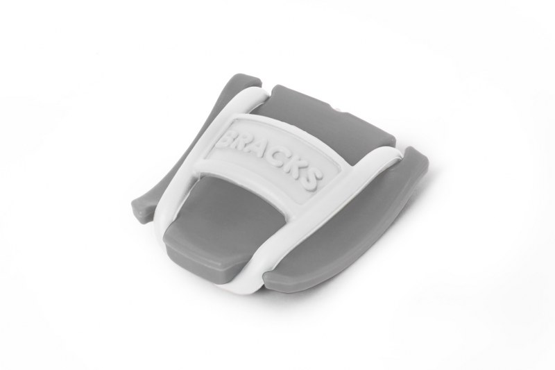 BRACKS זוג קליפ נעילה לשרוכים אפור לבן