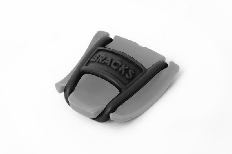 BRACKS זוג קליפ נעילה לשרוכים אפור שחור