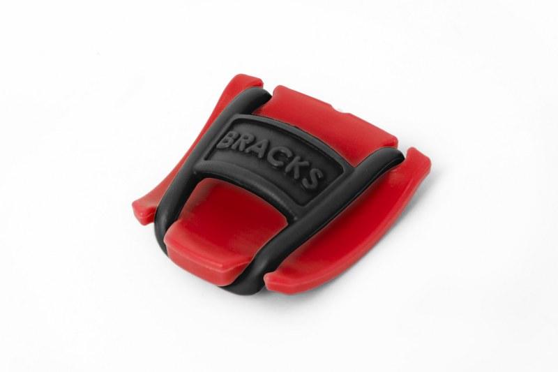 BRACKS זוג קליפ נעילה לשרוכים אדום שחור