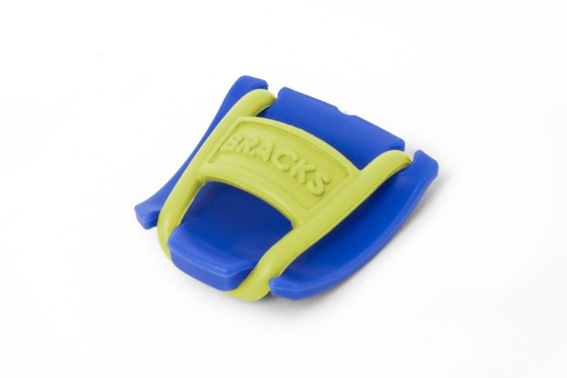 BRACKS זוג קליפ נעילה לשרוכים כחול צהוב