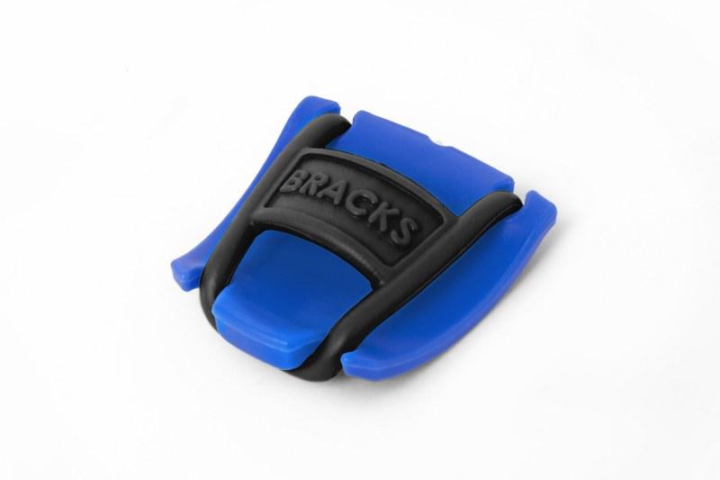 BRACKS זוג קליפ נעילה לשרוכים כחול שחור