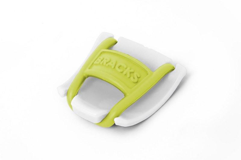 BRACKS זוג קליפ נעילה לשרוכים לבן צהוב