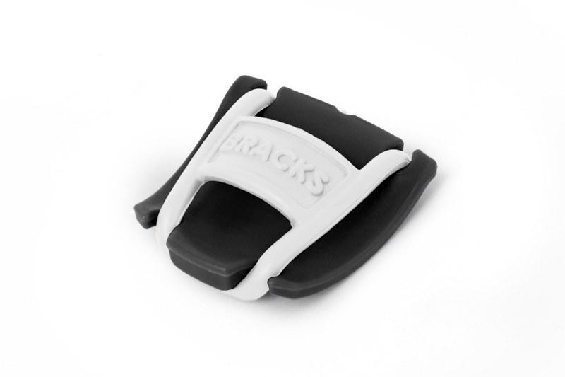 BRACKS זוג קליפ נעילה לשרוכים שחור לבן