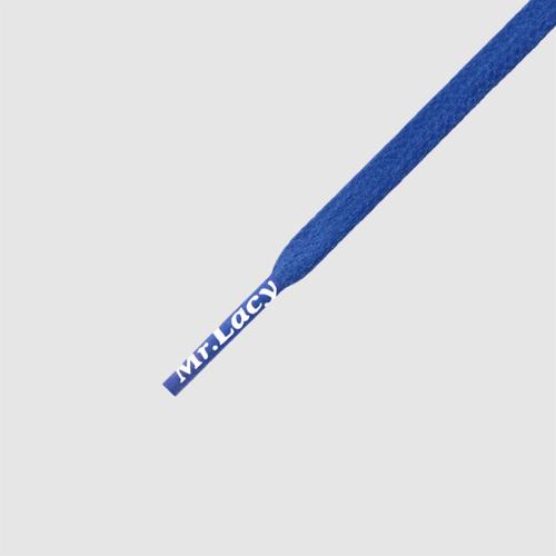 Waxies Royal Blue - זוג שרוכים עם ציפוי שעווה בצבע אפור כהה