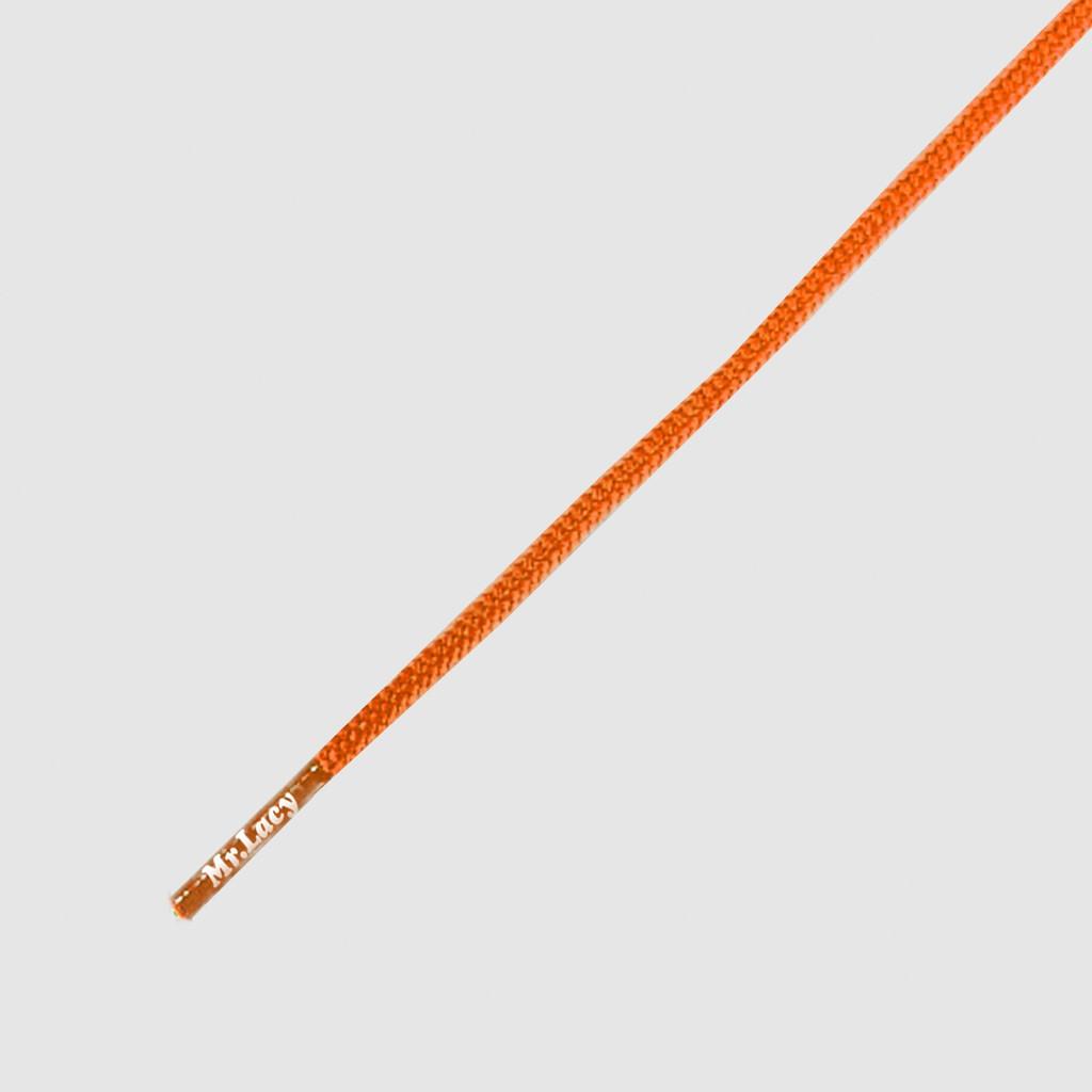 Runnies Round Bright Orange - זוג שרוכים עגולים דקים בצבע כתום