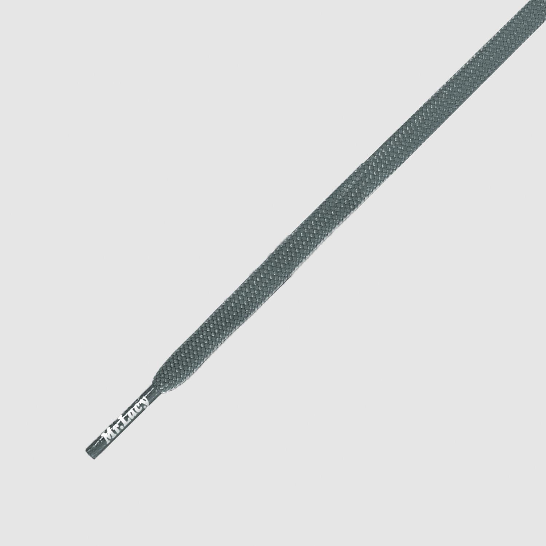 Runnies Flat Grey - זוג שרוכים שטוחים לנעלי ספורט בצבע אפור
