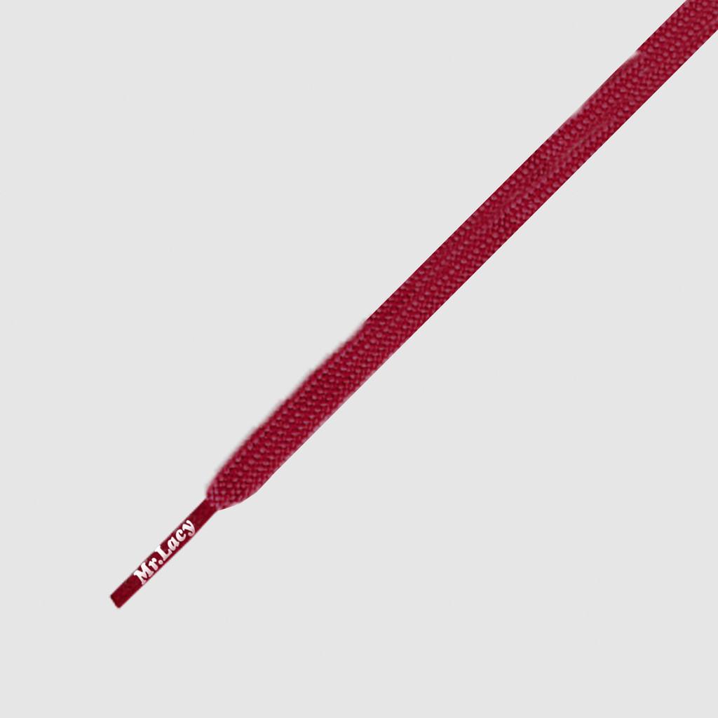 Runnies Flat Burgundy - זוג שרוכים שטוחים לנעלי ספורט בצבע בורדו